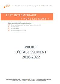 Projet d'établissement ESAT