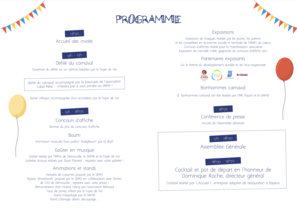 Programme manifestation associative